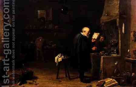 The Alchemist 2 by David The Younger Teniers - Reproduction Oil Painting