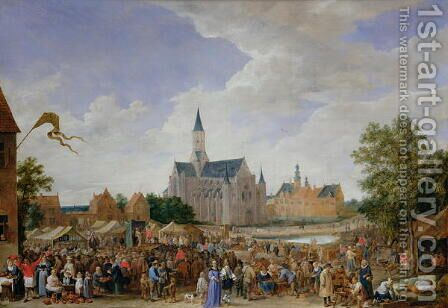 The Potters Fair at Ghent by David The Younger Teniers - Reproduction Oil Painting