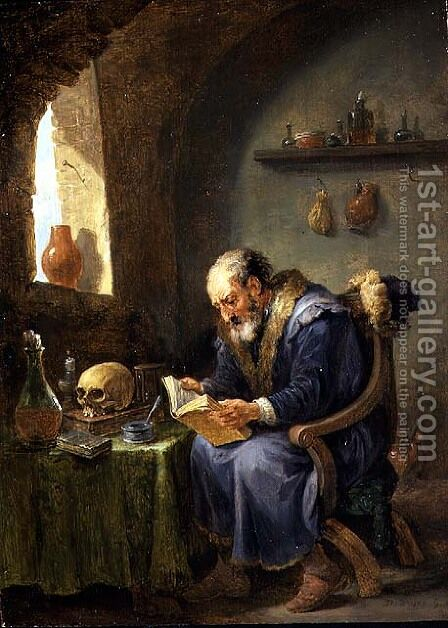 The Alchemist 3 by David The Younger Teniers - Reproduction Oil Painting