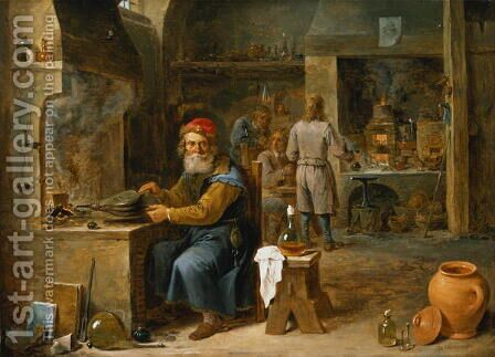 The Alchemist 4 by David The Younger Teniers - Reproduction Oil Painting