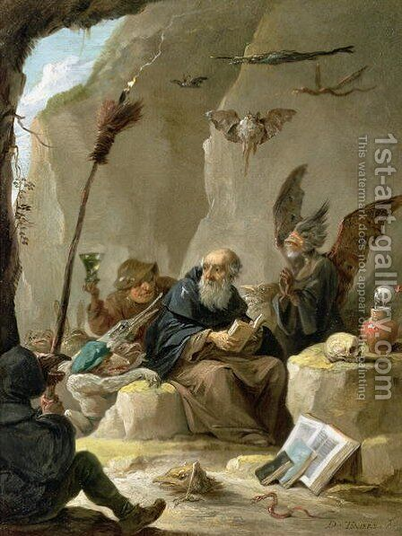 The Temptation of St. Anthony 4 by David The Younger Teniers - Reproduction Oil Painting