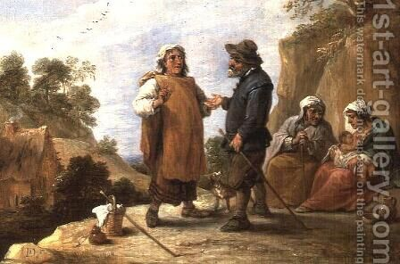 The Fortune Teller 2 by David The Younger Teniers - Reproduction Oil Painting