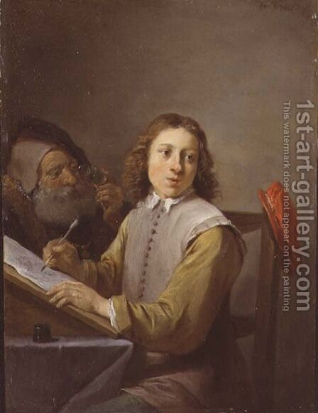 The Five Senses Series- Seeing by David The Younger Teniers - Reproduction Oil Painting