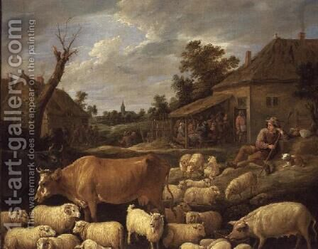 The Good Shepherd by David The Younger Teniers - Reproduction Oil Painting