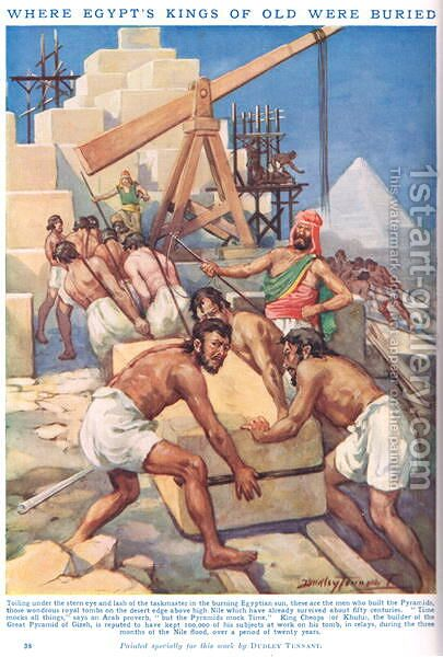 Where Egypts Kings of old were buried, illustration from Newnes Pictorial Book of Knowledge by Dudley C. Tennant - Reproduction Oil Painting