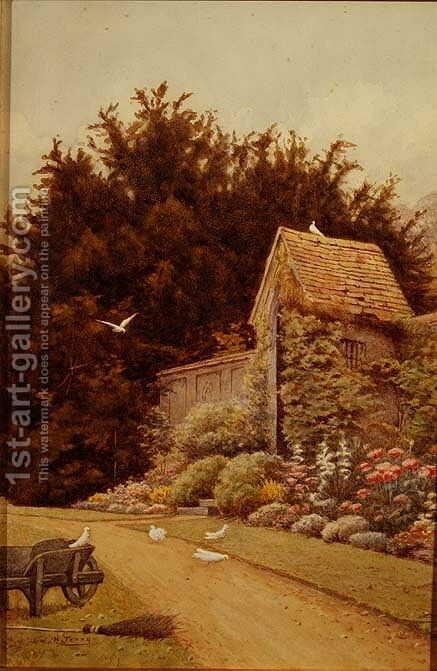 An Old Garden House at Hartwell House by Henry Terry - Reproduction Oil Painting