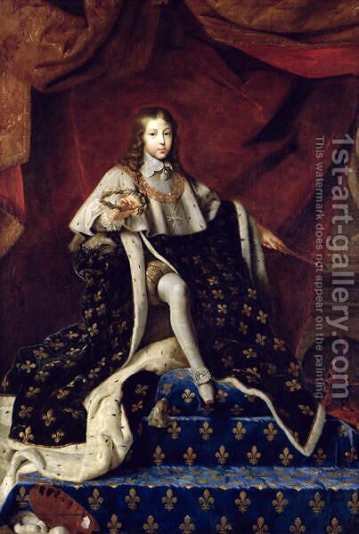 Portrait of Louis XIV 1638-1715 aged 10, 1648 by Henri Testelin - Reproduction Oil Painting
