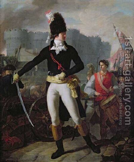 A Winner of the Bastille, 14th July 1789 by Charles Thevenin - Reproduction Oil Painting