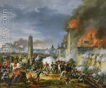 The Attack and Taking of Ratisbon, 23rd April 1809, 1810 by Charles Thevenin - Reproduction Oil Painting