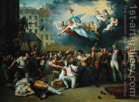 Massacre of the Marquis de Pellepont, 14th July 1789 by Charles Thevenin - Reproduction Oil Painting