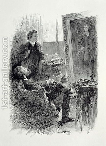 Illustration from The Picture of Dorian Gray by Oscar Wilde 1854-1900, engraved by E. d'Ete 2 by (after) Thiriat, Paul - Reproduction Oil Painting