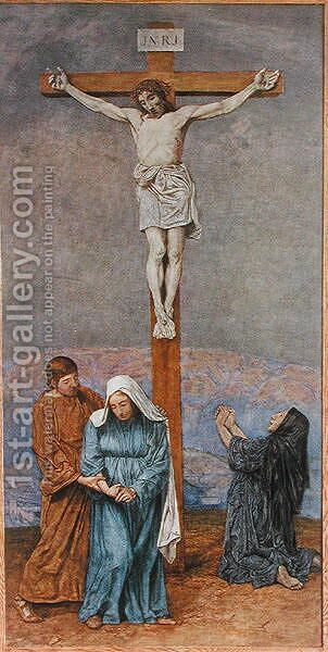 The Crucifixion, illustration from Festkalender published in Leipzig c.1910 by Hans Thoma - Reproduction Oil Painting