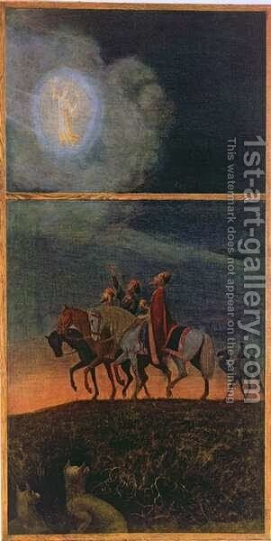 The Three Magi, illustration from Festkalender published in Leipzig c.1910 by Hans Thoma - Reproduction Oil Painting