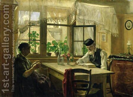 A Peaceful Sunday, 1876 by Hans Thoma - Reproduction Oil Painting