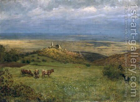 View of Kronberg in Taunus, Germany, 1879 by Hans Thoma - Reproduction Oil Painting