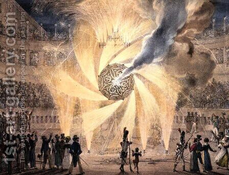 Fireworks by Antoine Jean-Baptiste Thomas - Reproduction Oil Painting