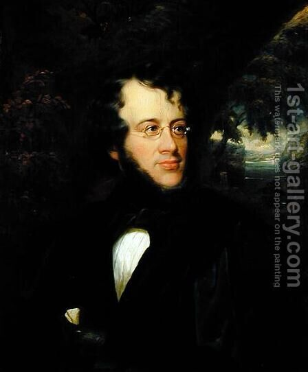 Portrait of Charles Fenno Hoffman 1806-84, 1843 by Cephas Giovanni Thompson - Reproduction Oil Painting