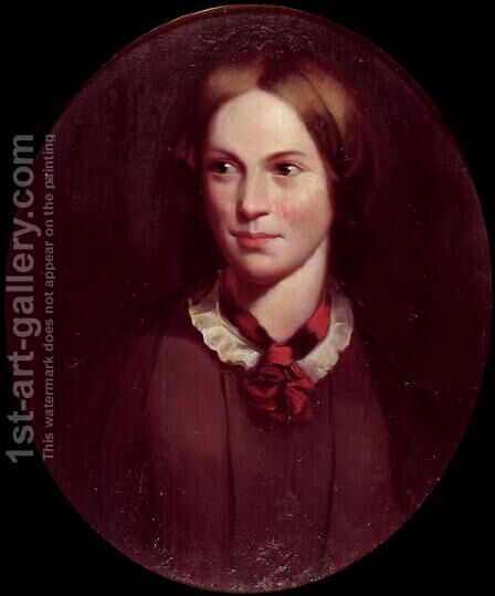 Portrait of Charlotte Bronte 1816-55 by J.H. Thompson - Reproduction Oil Painting