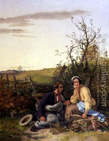 The Course of True Love Never Did Run Smooth, 1854 by Jacob Thompson - Reproduction Oil Painting