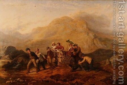 The Height of Ambition, A scene in the Mardale mountains by Jacob Thompson - Reproduction Oil Painting