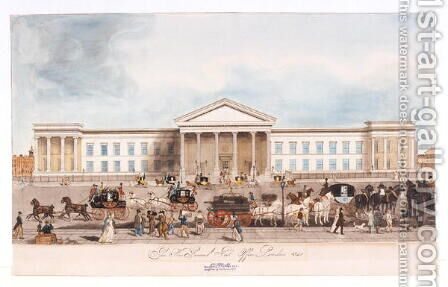 The New General Post Office, London, 1840 by James Thomson - Reproduction Oil Painting