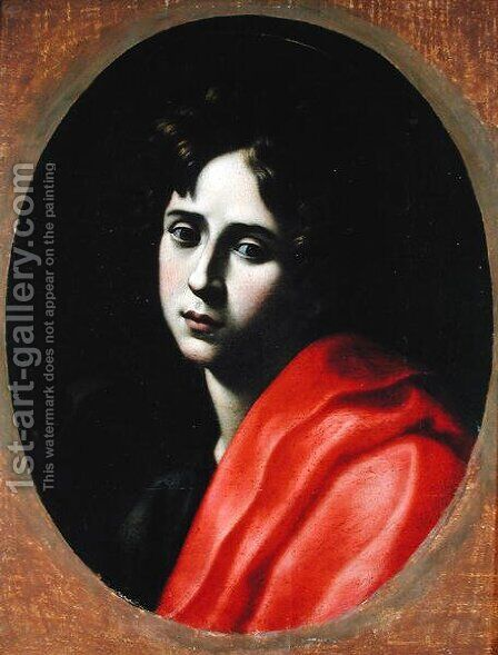 St. John the Evangelist by Alessandro Tiarini - Reproduction Oil Painting
