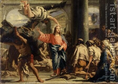 Christ at the Pool of Bethesda, 1780 by Giovanni Domenico Tiepolo - Reproduction Oil Painting