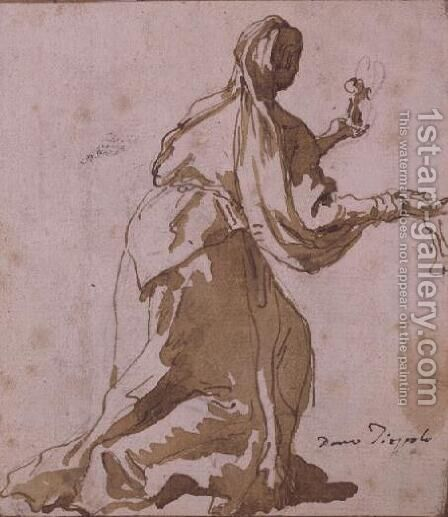 Mary Magdalene by Giovanni Domenico Tiepolo - Reproduction Oil Painting