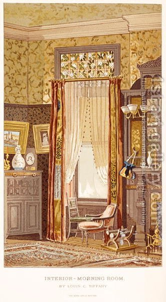 Morning Room 1881, by Tiffany, Charles Louis from C Harrisons Womans Handiwork in Modern Homes New York 1881 by Charles Louis Tiffany - Reproduction Oil Painting