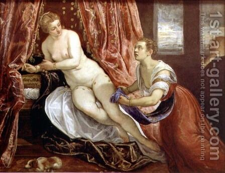 Danae, c.1570 by Domenico Tintoretto (Robusti) - Reproduction Oil Painting