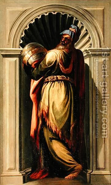 A Philosopher 2 by Domenico Tintoretto (Robusti) - Reproduction Oil Painting