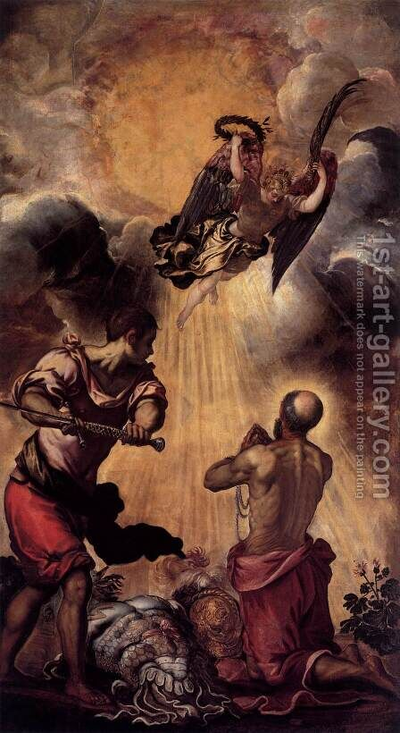 The Execution of St Paul by Jacopo Tintoretto (Robusti) - Reproduction Oil Painting