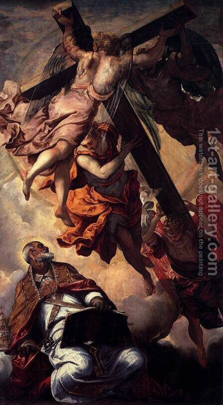 Apparition of the Cross to St Peter by Jacopo Tintoretto (Robusti) - Reproduction Oil Painting