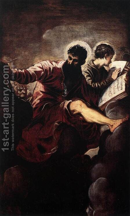 St. Mark and St. John by Jacopo Tintoretto (Robusti) - Reproduction Oil Painting