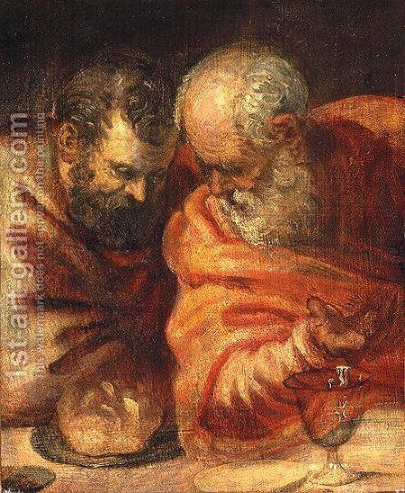 Two Prophets by Jacopo Tintoretto (Robusti) - Reproduction Oil Painting