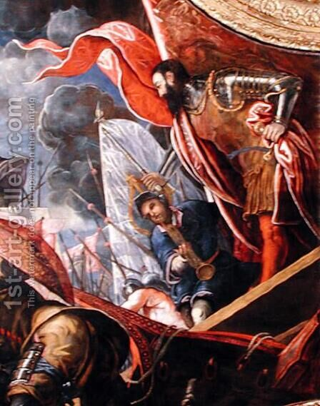 Victory of the Venetians over the Ferrarans at Argenta by Jacopo Tintoretto (Robusti) - Reproduction Oil Painting