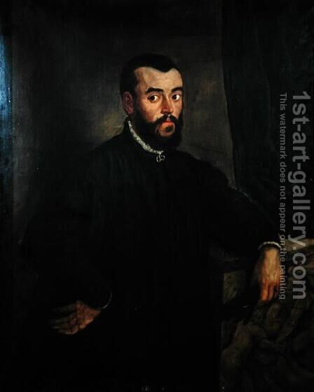 Portrait of Andreas Vesalius 1514-64 by Jacopo Tintoretto (Robusti) - Reproduction Oil Painting