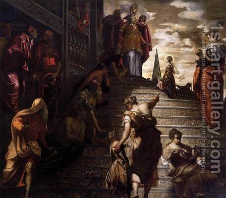 The Presentation of the Virgin, 1552 by Jacopo Tintoretto (Robusti) - Reproduction Oil Painting