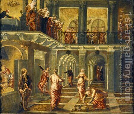 The Parable of the Wise and Foolish Virgins by Jacopo Tintoretto (Robusti) - Reproduction Oil Painting