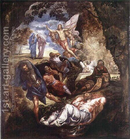 The Resurrection of Christ 2 by Jacopo Tintoretto (Robusti) - Reproduction Oil Painting