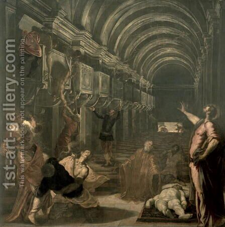 The Finding of the Body of St. Mark by Jacopo Tintoretto (Robusti) - Reproduction Oil Painting