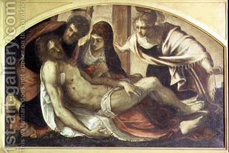 Pieta by Jacopo Tintoretto (Robusti) - Reproduction Oil Painting