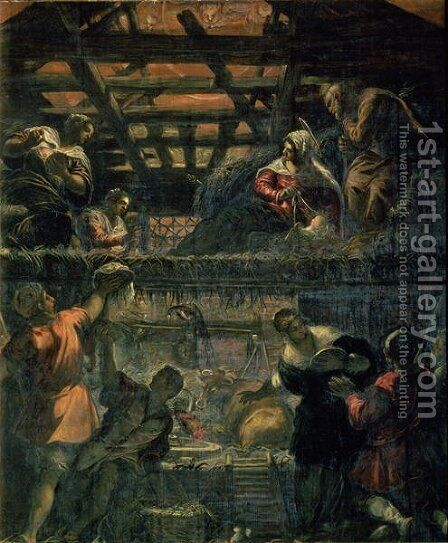 The Adoration of the Shepherds, 1578-81 by Jacopo Tintoretto (Robusti) - Reproduction Oil Painting