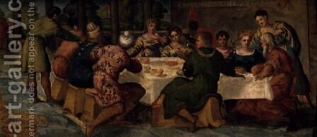 King Belshazzars Banquet, c.1543-44 by Jacopo Tintoretto (Robusti) - Reproduction Oil Painting