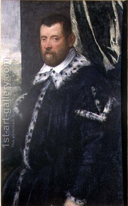 Battista Morosoni 1537-98, High Procurator by Jacopo Tintoretto (Robusti) - Reproduction Oil Painting