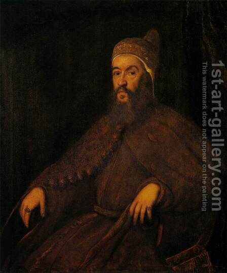Doge Alvise Mocenigo by Jacopo Tintoretto (Robusti) - Reproduction Oil Painting