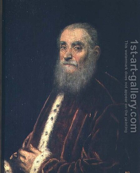 Marco Grimani by Jacopo Tintoretto (Robusti) - Reproduction Oil Painting