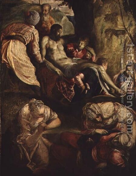 Deposition of Christ, late 1550s by Jacopo Tintoretto (Robusti) - Reproduction Oil Painting