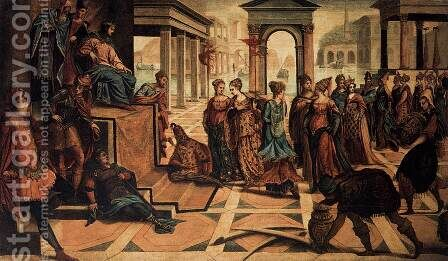 Solomon and the Queen of Sheba by Jacopo Tintoretto (Robusti) - Reproduction Oil Painting