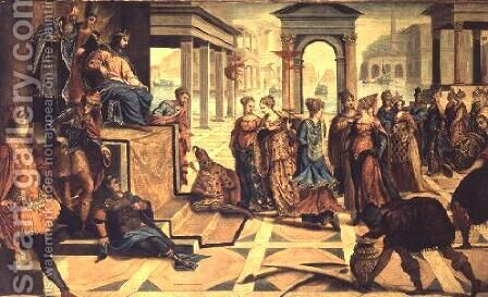 The Presentation of Jesus in the Temple by Jacopo Tintoretto (Robusti) - Reproduction Oil Painting